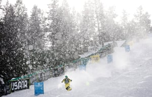 Deer Valley, US: Anton Bondarev of Kazakhstan takes a run for the men's mogul qualifications during the 2021 Freestyle International Ski World Cup