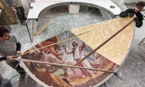 Back to the future... Part of Factum Arte's recreation of the Borgherini Chapel.