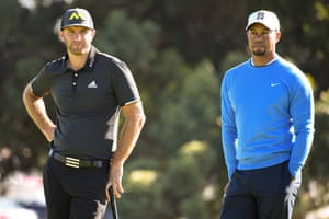 """""""Dustin Johnson and Tiger Woods."""""""