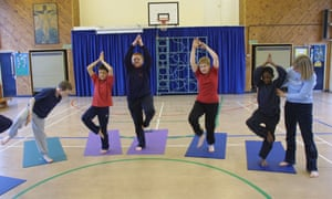 Now when they go through the yoga moves, the students will not say 'namaste' or put their hands by their hearts, because the term and gesture are derived from Hindu custom.
