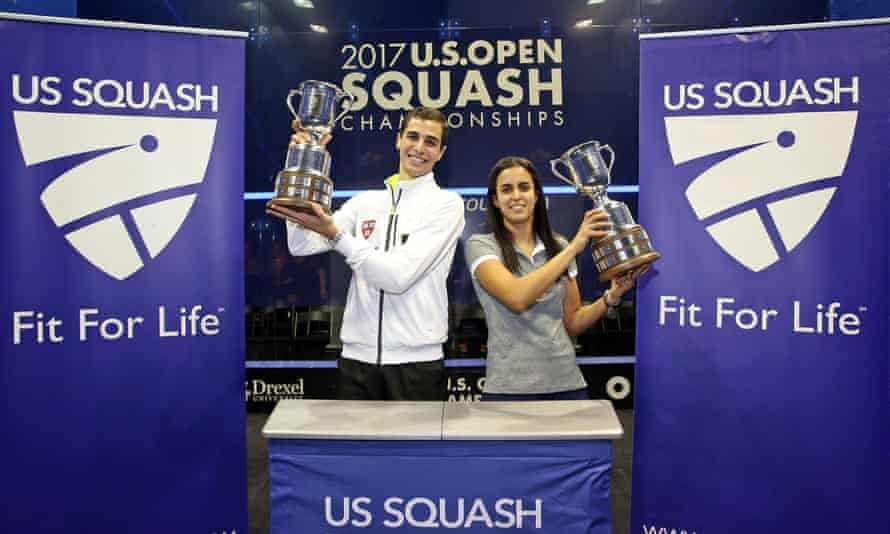 US Open squash champions Ali Farag and Nour El Tayeb are the first husband and wife to win the same major singles title on the same day.