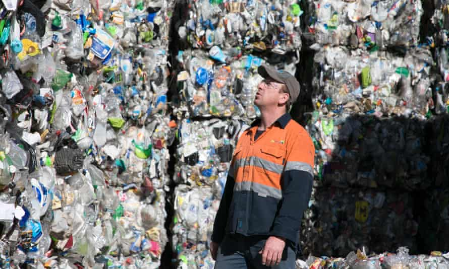 Mark Whiting, supervisor at the ReGroup recycling facility in Hume in the ACT.