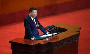 Chinese President and General Secretary of the Communist Party of China Xi Jinping delivers a speech during the opening ceremony of the 19th National Congress of the Communist Party of China.