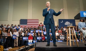 Joe Biden campaigns in Conway, South Carolina, on 27 February.