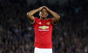 Anthony Martial reacts after another missed chance.
