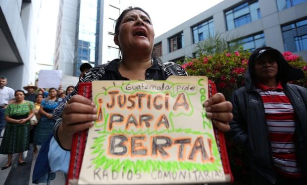Berta Cáceres protest Guatemala
