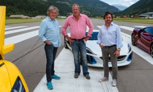 'A Statler and two Waldorfs' … James May, Jeremy Clarkson and Richard Hammond in season three of The Grand Tour.