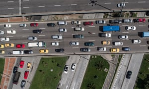 Drone view of traffic