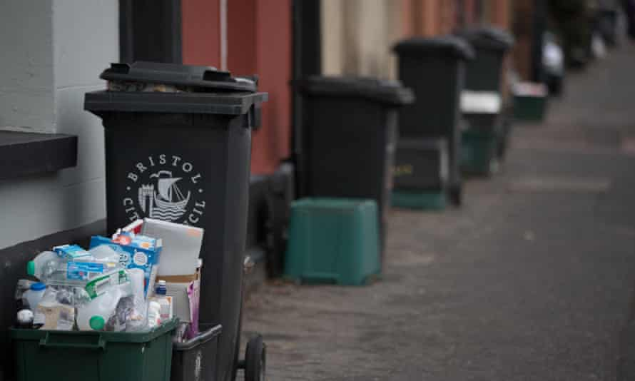 Recycling and waste bins in Bristol