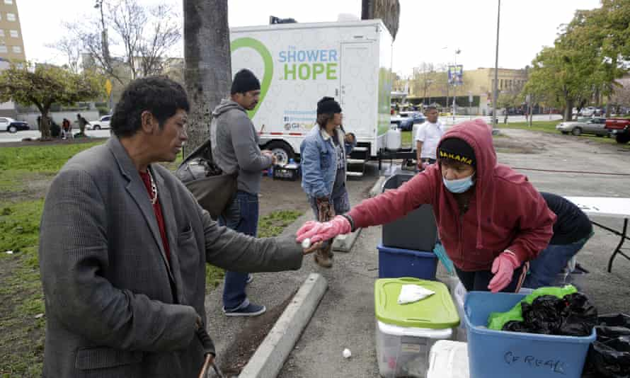 A mobile shower service for the homeless in Los Angeles. With no fixed address and little trust in the government, the homeless population has always been notoriously difficult to track.