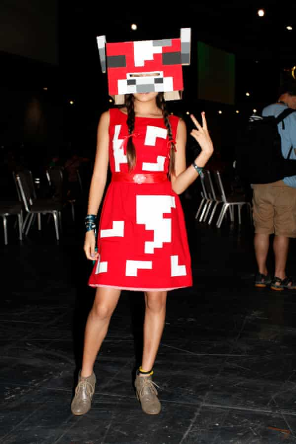Everyone is welcome … a fan at Minecon in London.