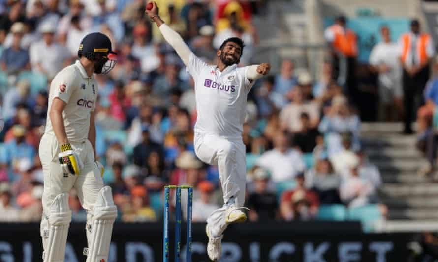 Jasprit Bumrah destroyed England in his spell after lunch on day five of the fourth Test at the Oval.