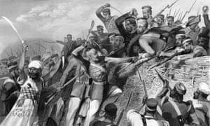 Attack of the Mutineers on the Redan Battery at Lucknow, 30 July 1857, from The History of the Indian Mutiny, by Charles Ball.