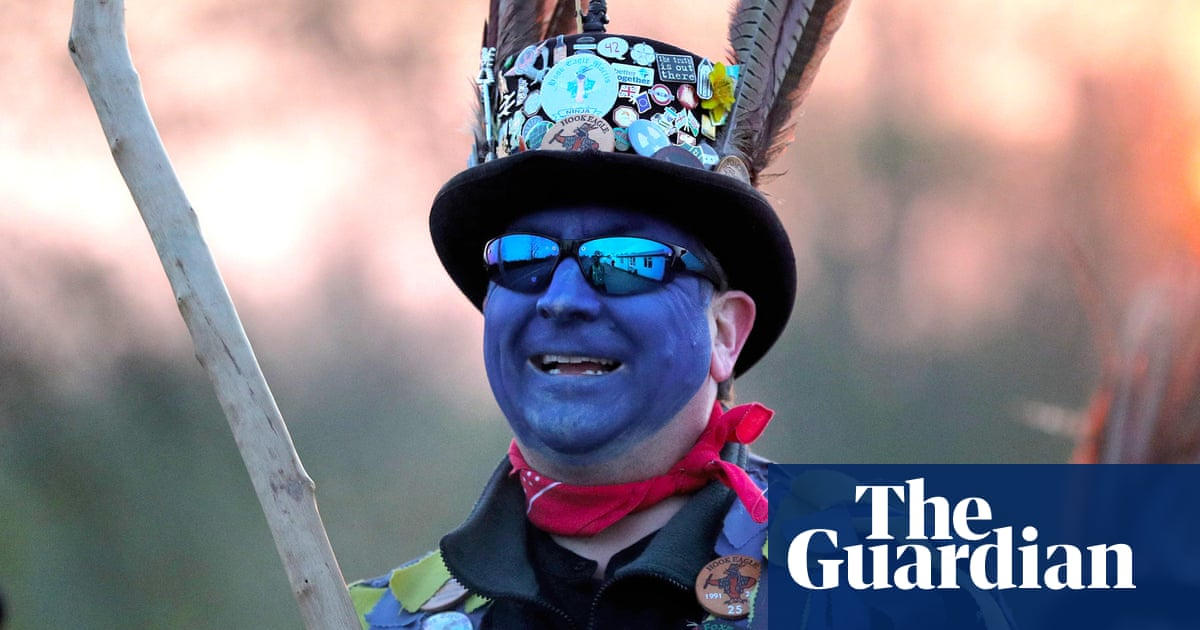 May Day morris dancers swap black face paint for blue over concerns of racism