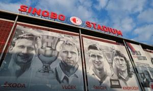 The Sinobo Stadium was the setting for Slavia  Prague's first leg against Chelsea.