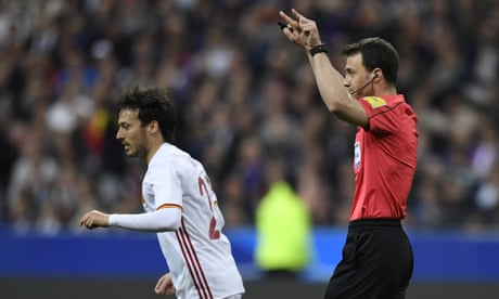 France foiled by video assistant referee in defeat against Spain
