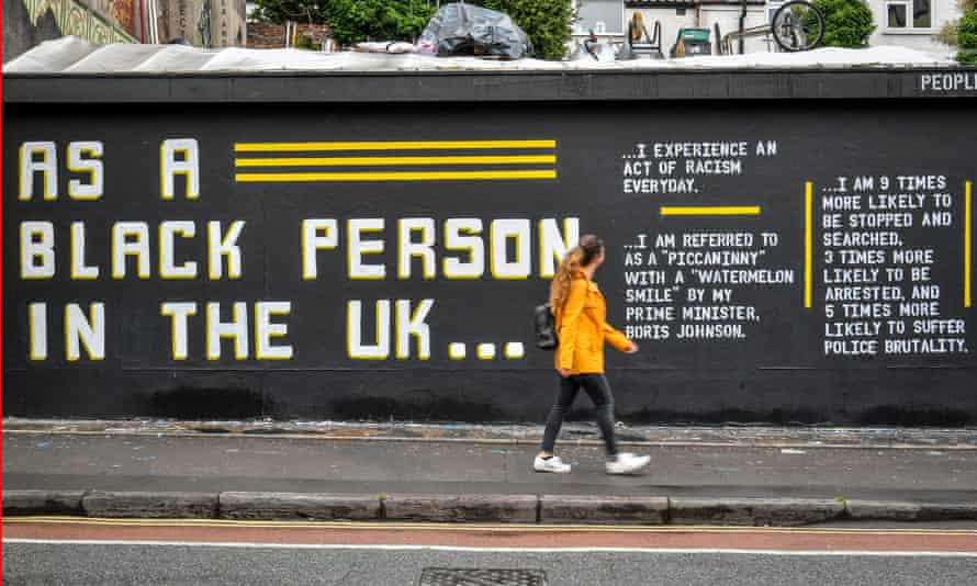 Street art by Lanie Rose and @asablackpersonintheuk in Stokes Croft, Bristol, this weekend.