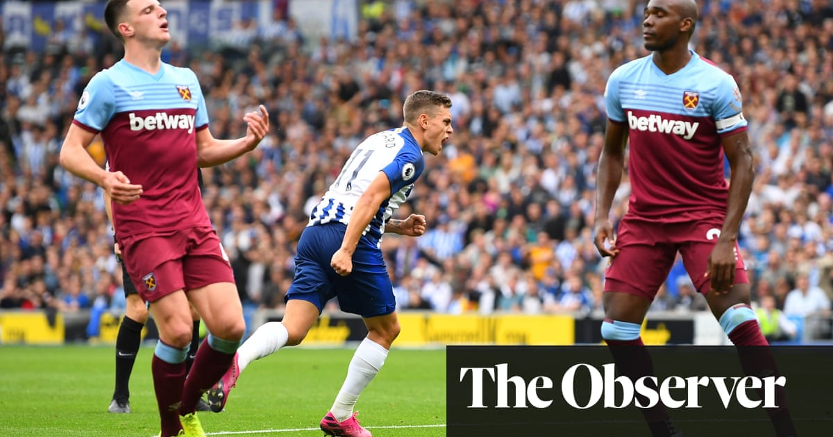 Brighton's Leandro Trossard denied by VAR then pegs back West Ham