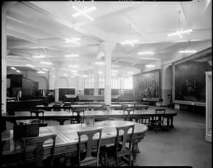 The 'newspaper room', now known as the Quad, circa 1950s.
