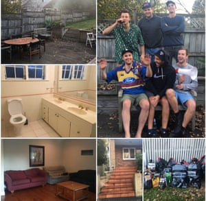 The scene of a 120-person leaving party in Auckland -after a visit by Morning After Maids