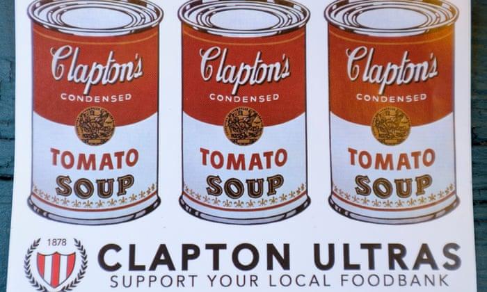 Image result for clapton ultras food bank