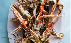 Shelling out: langoustines with dill and bacon butter.