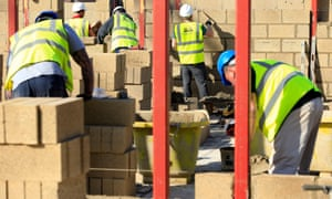 Construction workers ona building site