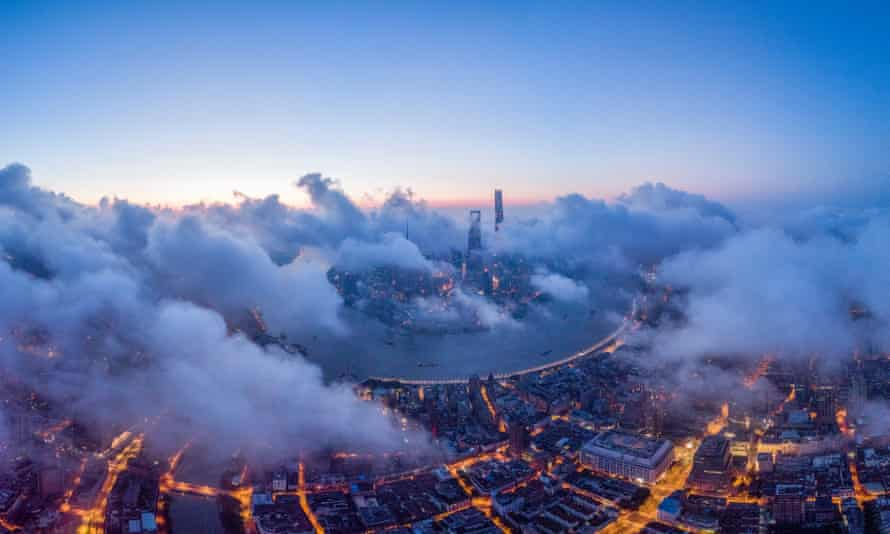 Shanghai at sunrise: China has massively ramped up its efforts to control the weather.