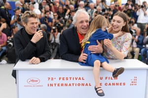 Willem Dafoe, director Abel Ferrara, Anna Ferrara and Cristina Chiriac attend the photocall for Tommaso at the Cannes film festival