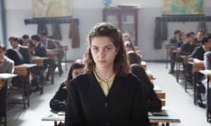 Boredom and hormones in the classroom … Elisa del Genio in My Brilliant Friend.