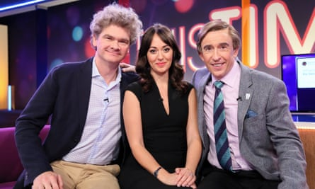 with co-hosts (Simon Farnaby and Susannah Fielding) on This Time with Alan Partridge.