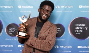 Michael Kiwanuka with his prize