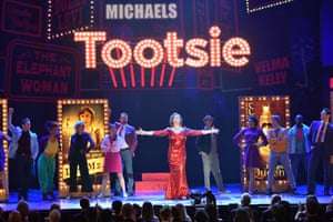 The cast of Tootsie onstage