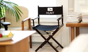 Director's chair in Hunt's office