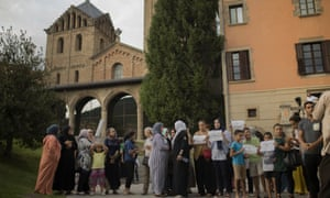 People in Ripoll, Catalonia