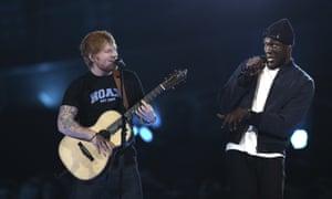 Ed Sheeran and Stormzy.