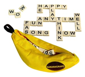 Bananagrams is portable and easy to play.
