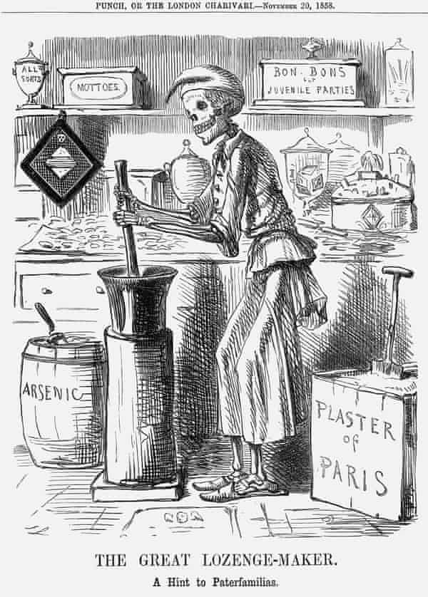 The Great Lozenge-Maker. A Hint to Paterfamilias, a cartoon by John Leech, 1858, indicts the sweet-making industry.