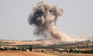Regime forces bombard Idlib