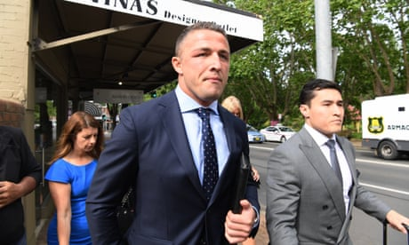 Former NRL star Sam Burgess 'just went at' ex-wife's father, court told