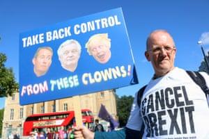 Man on pro-EU march in London