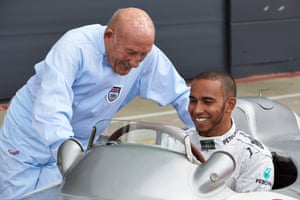 Lewis Hamilton (right) has paid tribute to his friend, Stirling Moss.