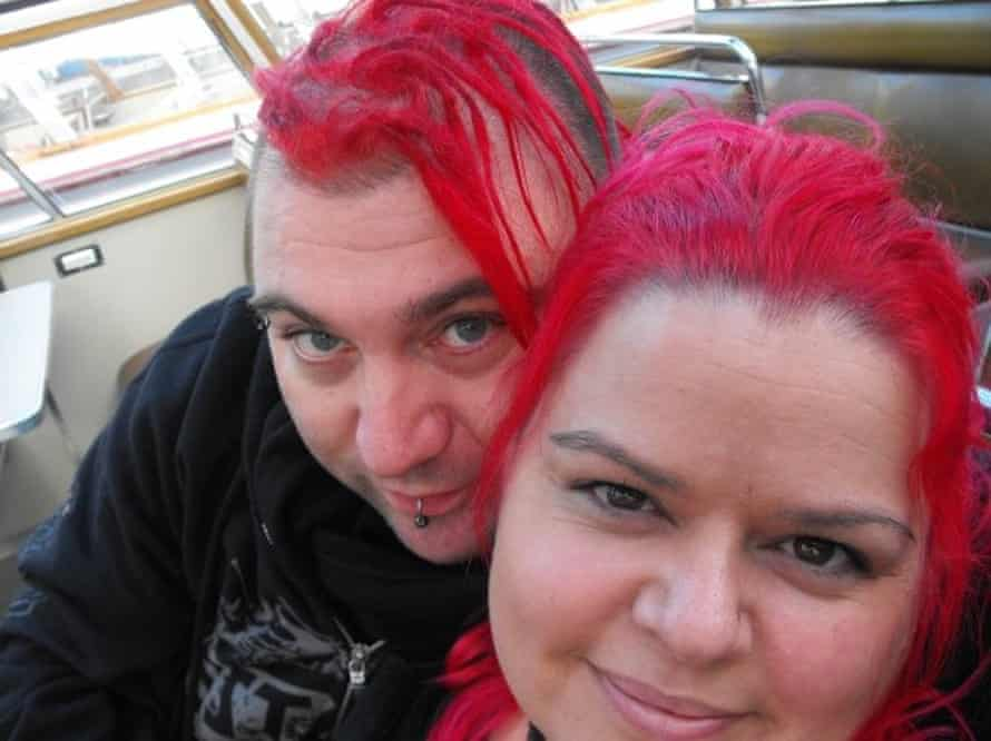 Claire Mercer and her husband Jason on a river boat in Amsterdam on their honeymoon, November 2009. Jason was killed on a Smart Motorway
