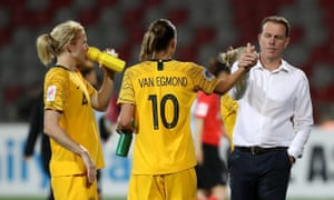 Alen Stajcic and Matildas players