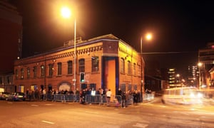 People queue outside the Factory nightclub in Manchester