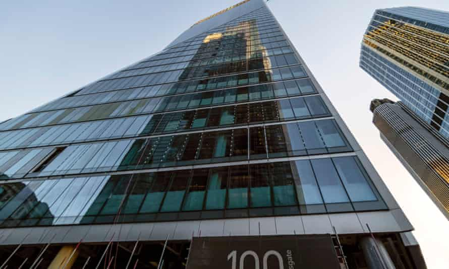 100 Bishopsgate building in the City of London