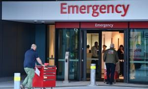 Emergency entrance at Royal Adelaide hospital