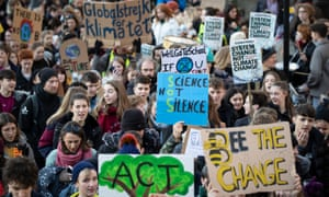 Climate protesters in Leeds