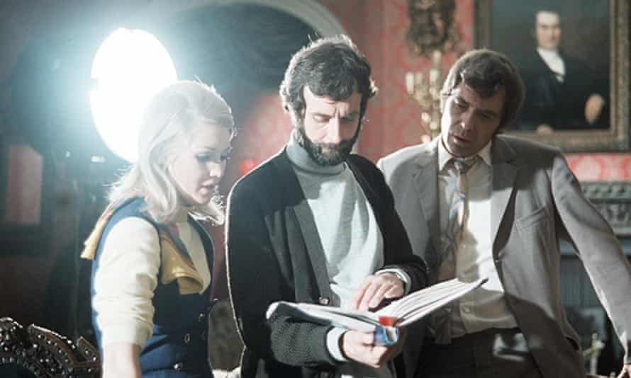 Jeremy Summers, centre, on the set of the TV series Randall and Hopkirk in 1969, with Annette Andre and Mike Pratt.