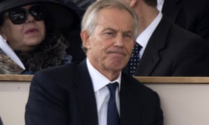 Former prime minister Tony Blair at the service.